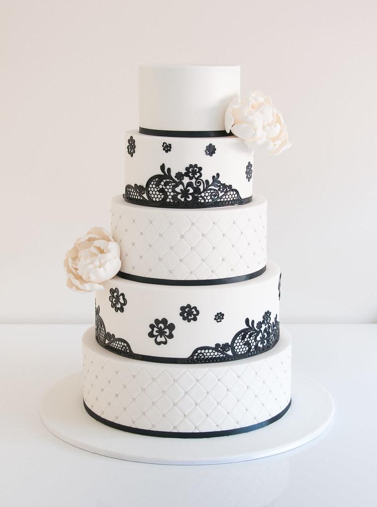 Black Lace Wedding Cake Cake Teacher Flickr