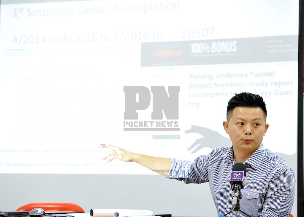 Press Conference By Jason Loo (Penang Gerakan Acting Youth Chief) On Unusual Development Of The RM6.3B Undersea Tunnel Mega Project (18 June 2016)
