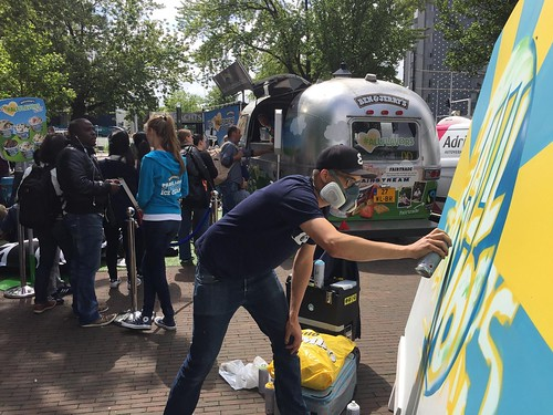 Ben & Jerry livepainting in Rotterdam