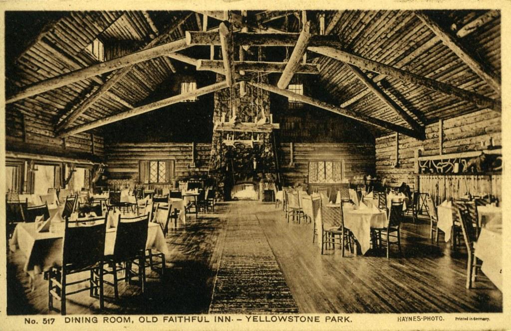 Old Faithful Inn Dining Room Yellowstone National Park Wy