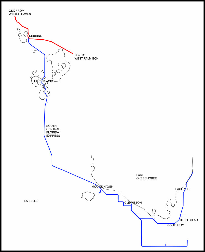 Moore Haven Florida Map.South Central Florida Express In 2013 Simplified Map Shows Flickr