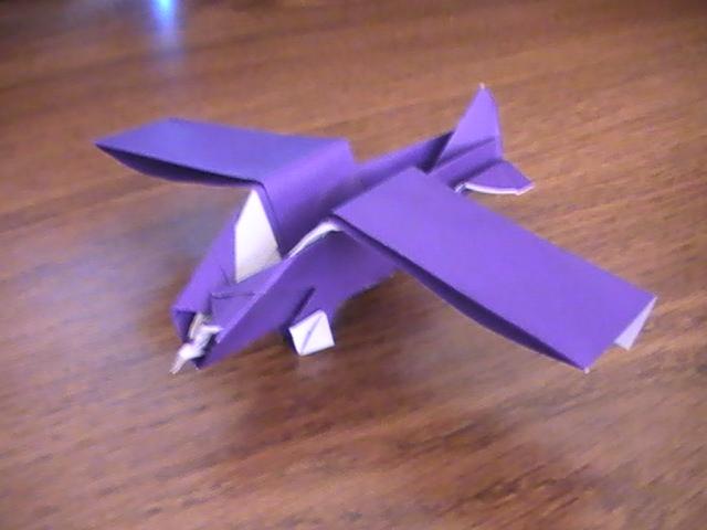 Origami Propeller Plane