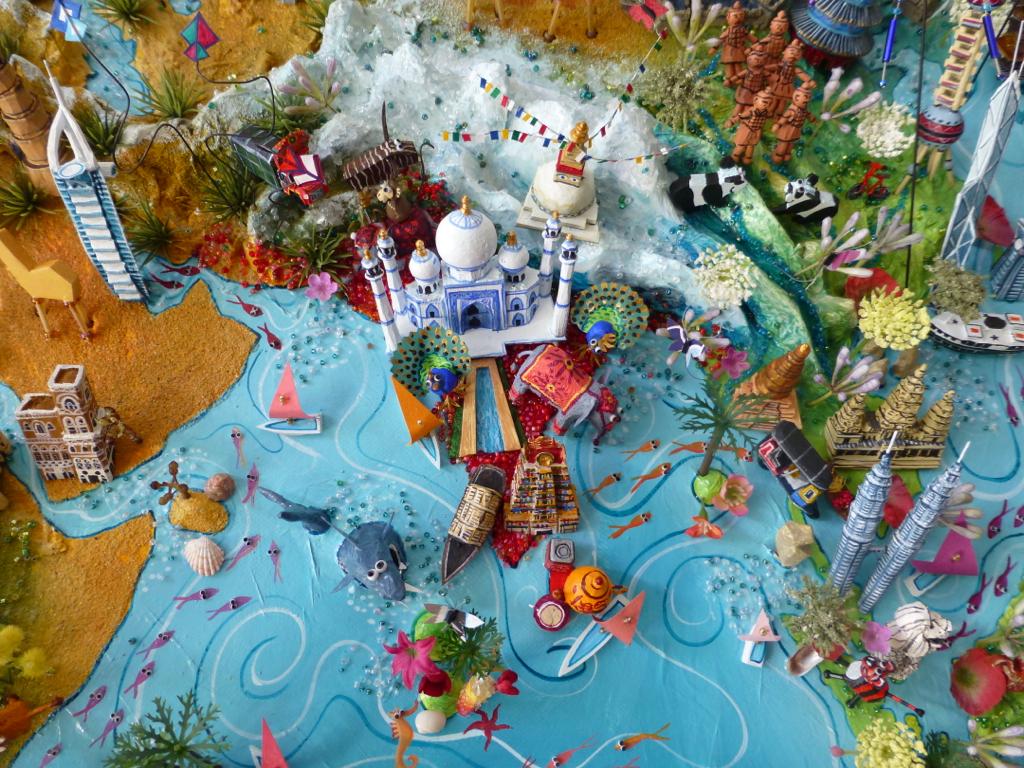 Sara drake indian ocean detail from large 3d world map flickr sara drake indian ocean detail from large 3d world map by globopato sciox Gallery
