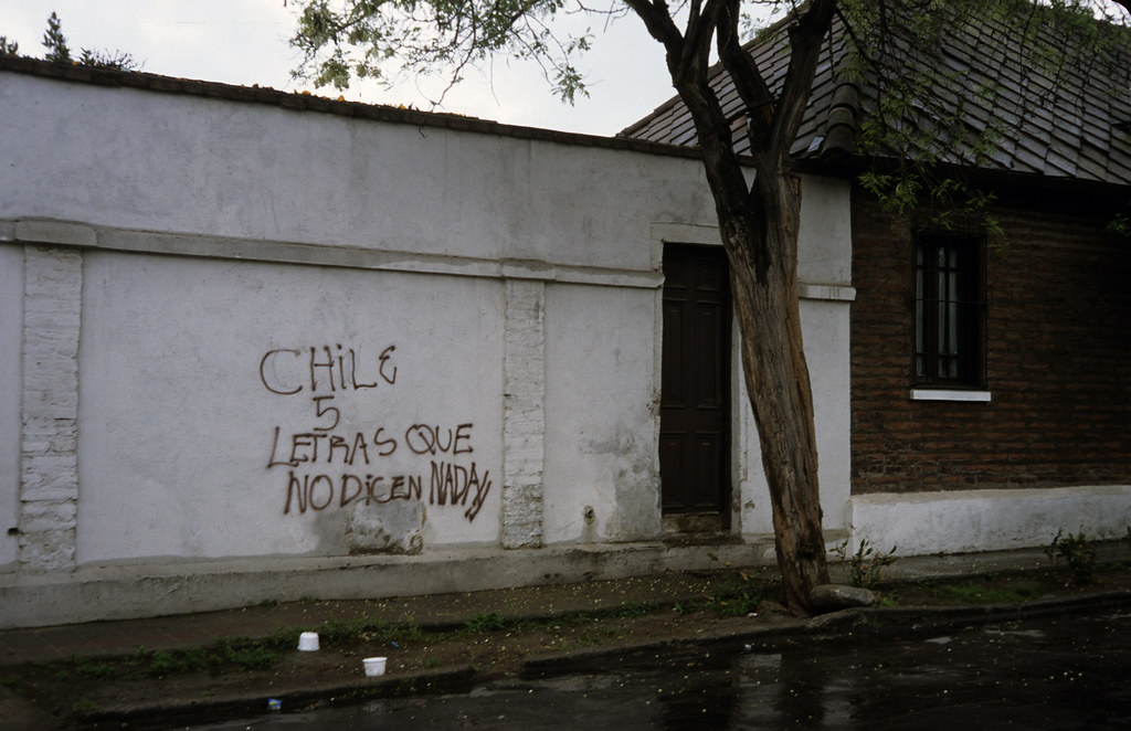 Chile, 5 letters that don't mean anything, Nuñoa, Santiago 1988 | by Marcelo  Montecino