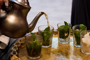 being served Moroccan mint tea | by lizziemoch