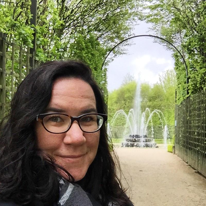 Selfie in Versailles Garden