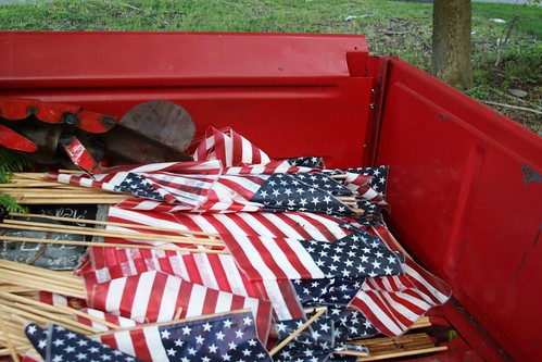 pickup bed full of flags i just wish these american flags flickr. Black Bedroom Furniture Sets. Home Design Ideas