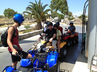 Gassing up the ATVs on Mykonos | by brookscl