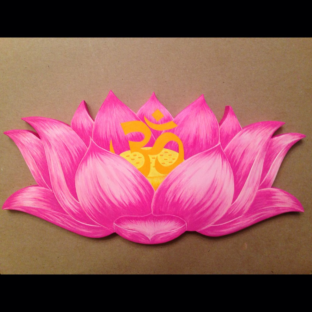 Lotus and om this is a cutout lotus flower with an om symb flickr lotus and om by morethanmosaics lotus and om by morethanmosaics izmirmasajfo