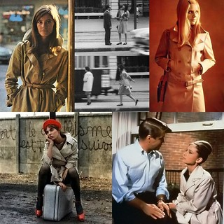 Trench coat inspiration: leading ladies | by Kallieish