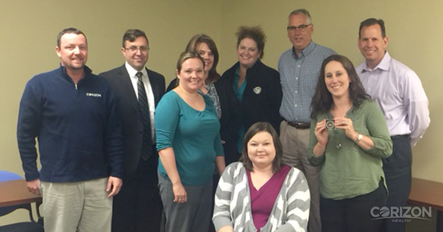 Regional Director of Nursing receives VPO Coin, first for Indiana contract