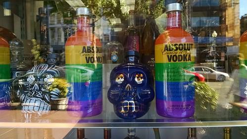 Colorful Liquor Bottles