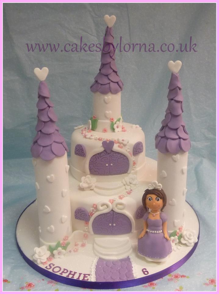 Sofia The First Theme Castle Birthday Cake Lorna Moodie Flickr