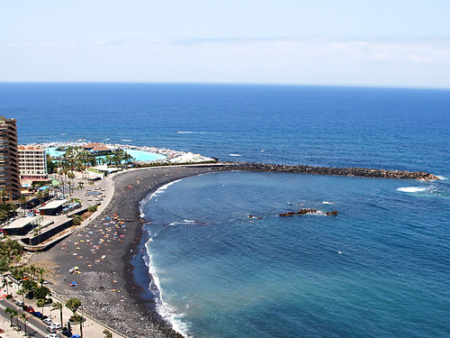 Cafes at playa marti nez puerto de la cruz tenerife flickr - Playa puerto de la cruz tenerife ...