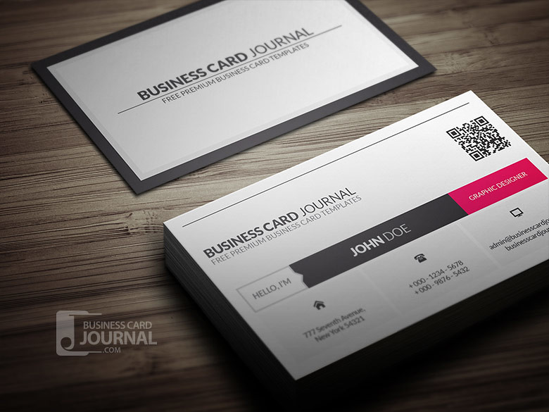 Metro style business card template with qr code download flickr metro style business card template with qr code by meng loong wajeb Image collections