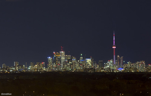 toronto night skyline | by Eva Blue