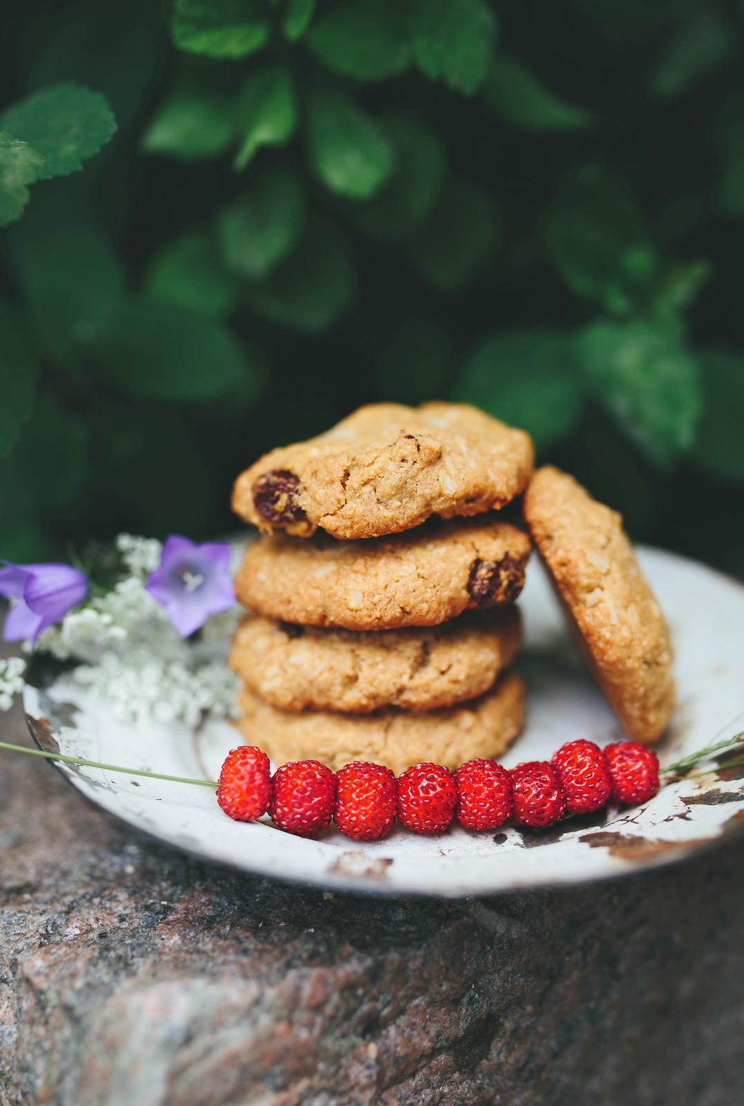 Glutenfria Havrekakor / Gluten free Oat Cookies