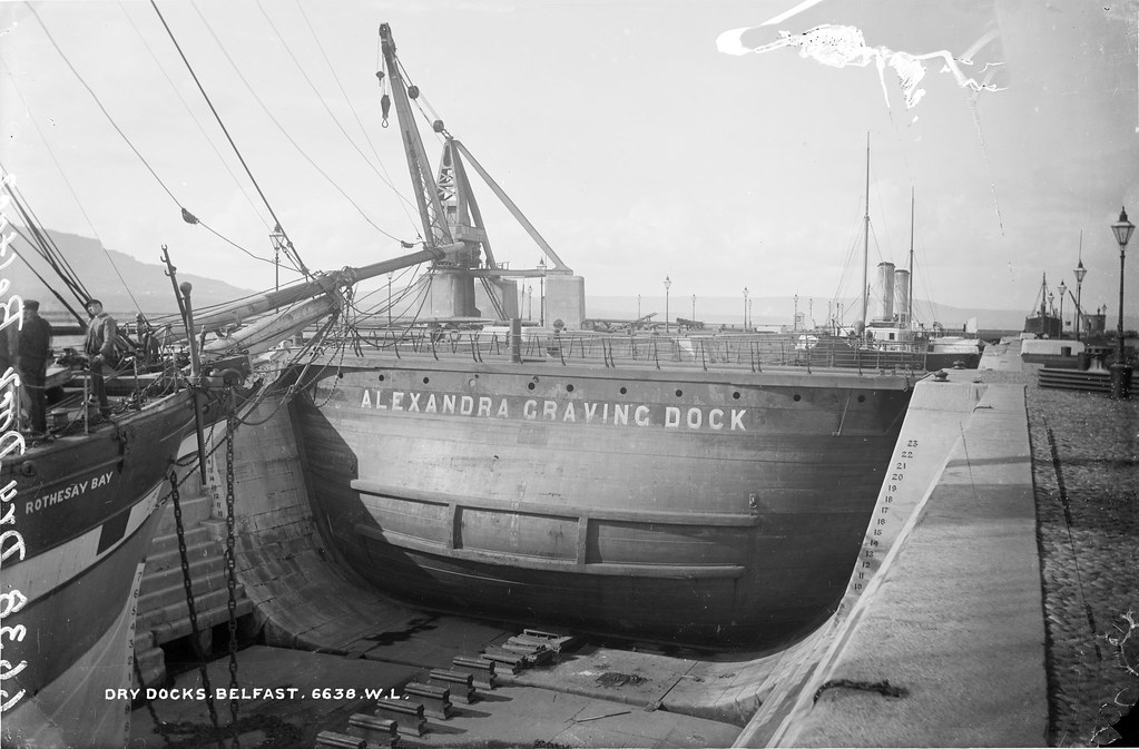 alexandra graving dock belfast 1 with just the prow o flickr