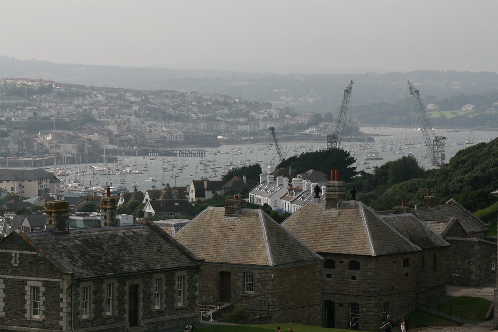 View of Falmouth from Pendennis Castle - near Falmouth, Cornwall