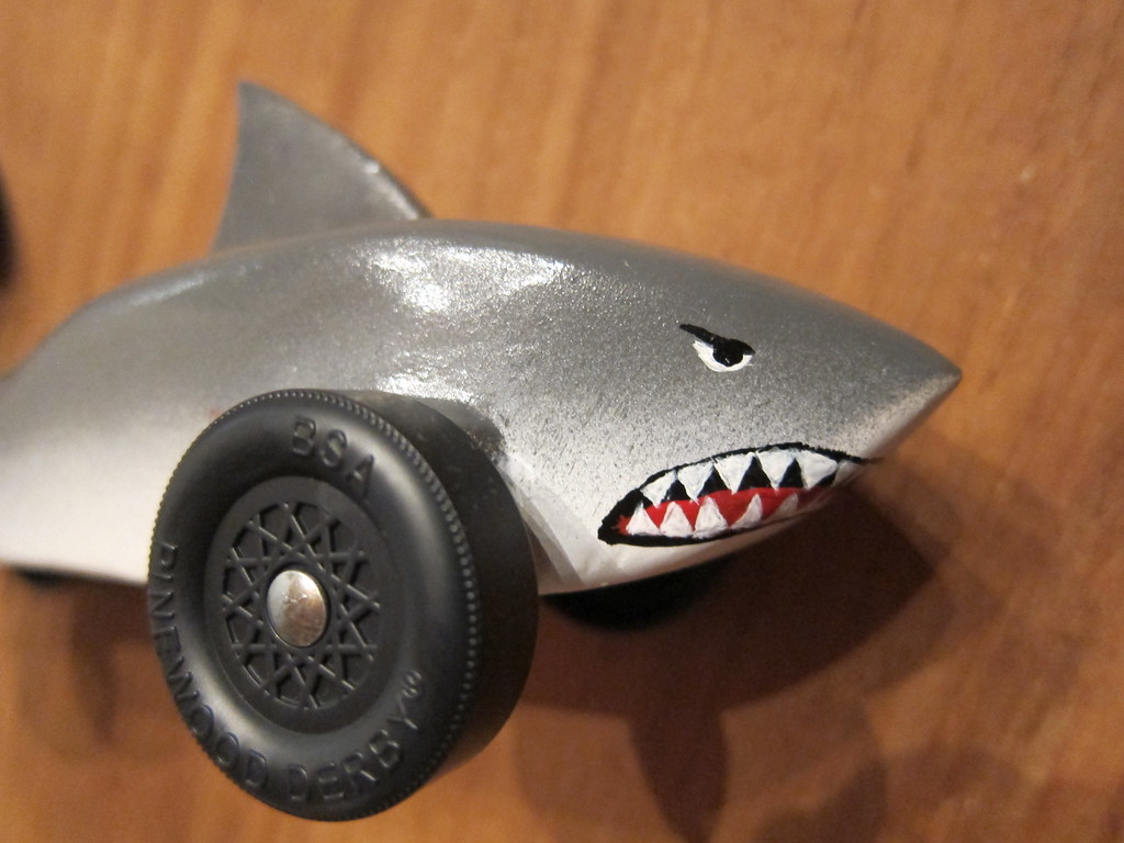 Pinewood Derby Great White Shark Yes That S Hand Painted Flickr