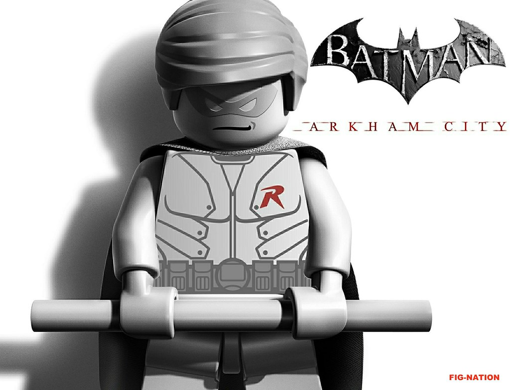 Lego arkham city promo robin by fig nation