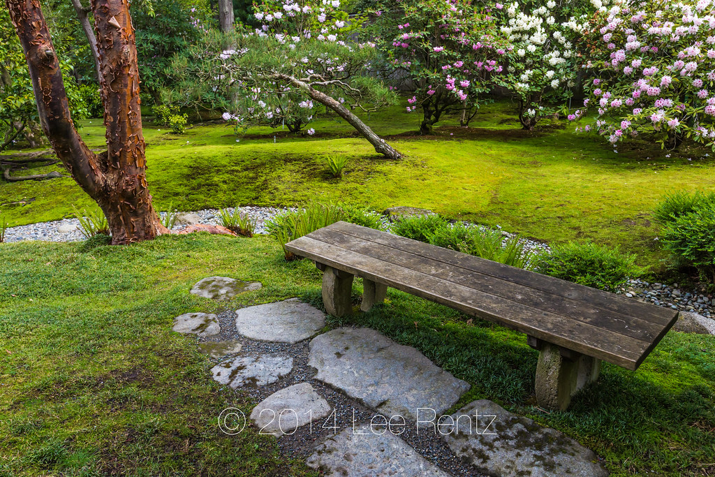 Charmant ... Bench And Moss In Seattleu0027s Japanese Garden | By Lee Rentz
