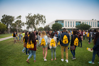 New Student Orientation on the north lawn