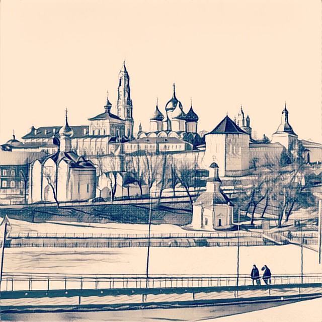 Сергиев Посад #московскаяобласть #moscowregion #russia #prisma #prismainsta #prismaart #prismaru