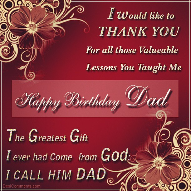 ... Happy Happy Birthday To The Best Dad In The World. Love You Daddy ☺ #