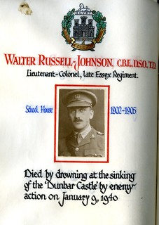 Russell Johnson, Walter (1888-1940) | by sherborneschoolarchives