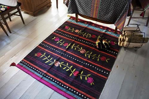 Teppich Roos schwarz  Der aus 100% Baumwolle