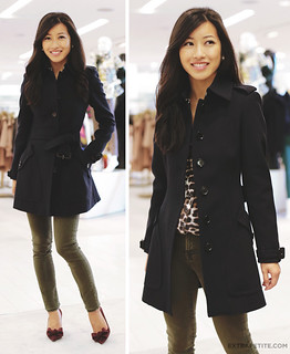 saks burberry coat | by ExtraPetite.com