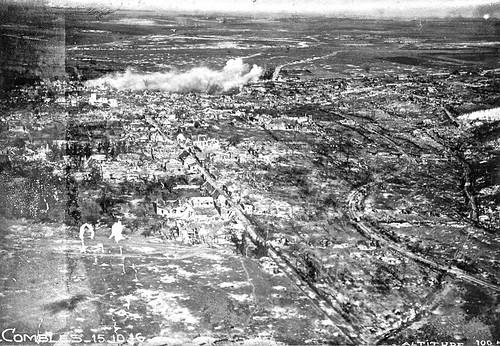 Bataille de la Somme  Combles (France) Vue aerienne Octo