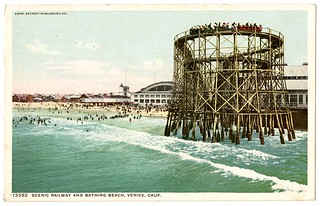 Scenic railway and bathing beach, Venice, Calif. | by California Historical Society Digital Collection