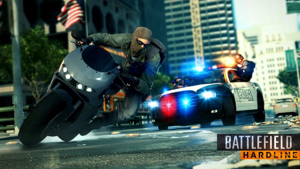 StylishHDwallpapers Battlefield HardLine Game Police Car HD Wallpaper