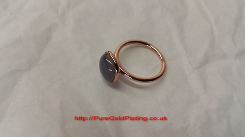 18ct Rose Gold Plated Ring | by PureGoldPlating