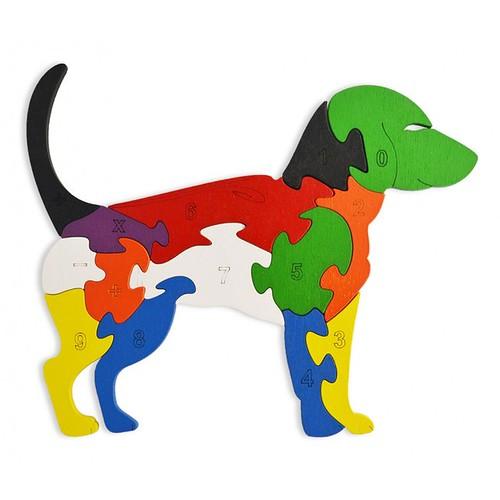Lắp ghép đồ chơi gỗ - con chó gỗ