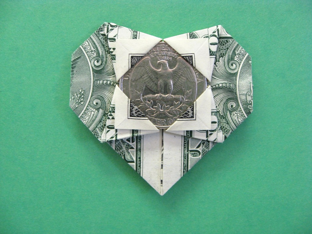 Dollar bill heart design fjc made with one dollar bill an flickr dollar bill heart by fj contreras jeuxipadfo Images