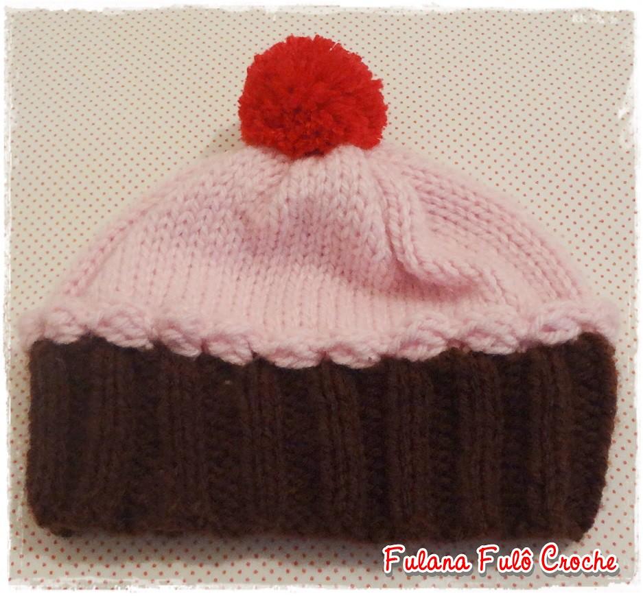 ... Touca de croche cupcake menina  1697093ece0