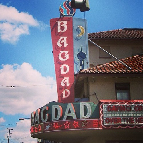 The Bagdad Theater in Portland (photo taken a few years back) | by mirandaceleste