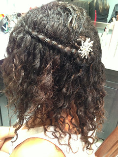 biracial-flower-girl-wedding--hairstyle-waterfall-braid | by vanmobilehair