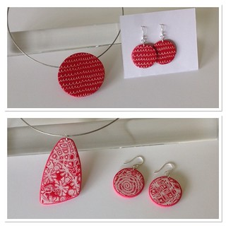 Red white vacation jewelry