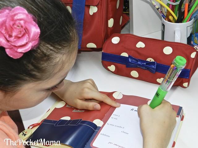 diario e astuccio Camomilla - back to school con Accademia