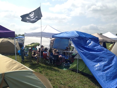 Bonnaroo 2013 - Another view of our camping area.  14 people, 7 tents, 6 popups. | by netgeek