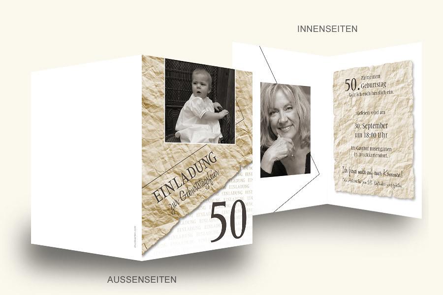 Geburtstagskarte drucken 50