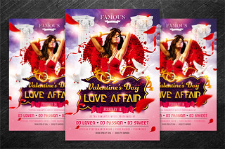 Valentine`s Day Party Flyer vol.1, PSD Template ...