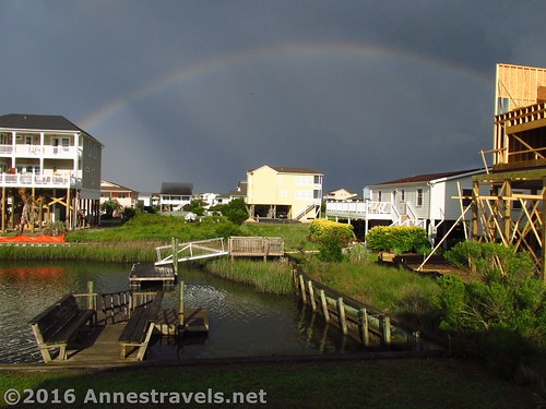 We started out the trip with this beautiful rainbow of the canal behind our beach house