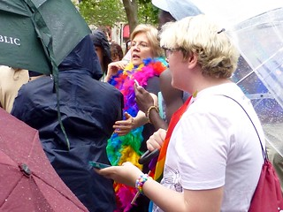 Senator Warren at the Pride parade | by Leslee_atFlickr