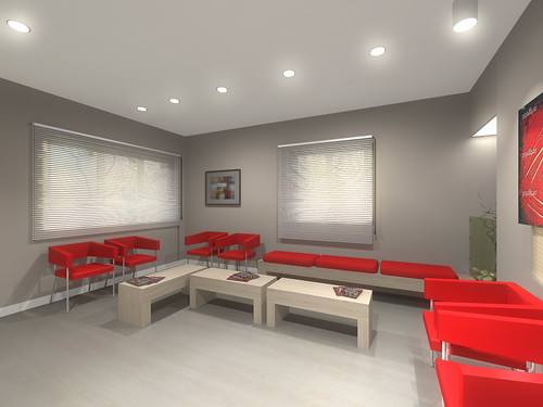 Progetto reception e sala attesa studio dentistico latina for Arredamento studio odontoiatrico