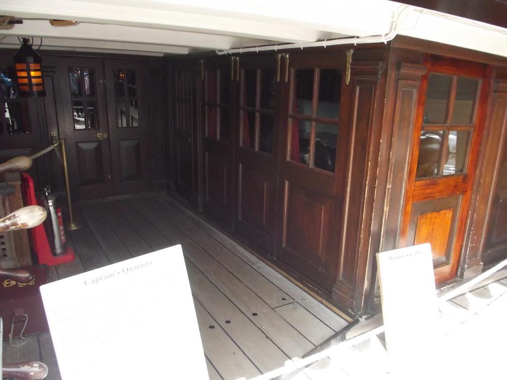 ... HMS Victory - Portsmouth Historic Dockyard - Quarter Deck - cabins - Captain\u0027s Quarters and Master\u0027s & HMS Victory - Portsmouth Historic Dockyard - Quarter Deck \u2026 | Flickr